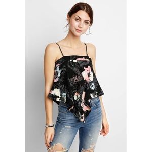 Free People | Get Your Love Tank Black NWT